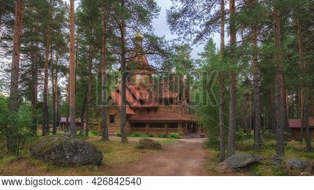 05 September 2020 Leningrad Region. The Village Of Glebychevo. Wooden Church Of The Nativity Of John