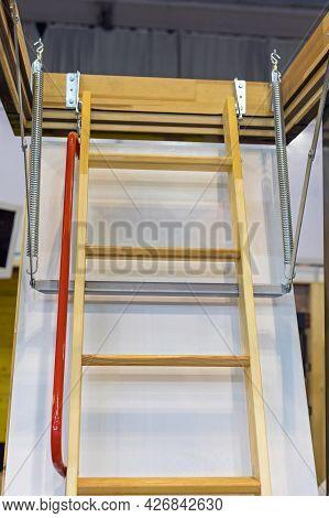 Retractable Loft Ladder Open To Attic Space