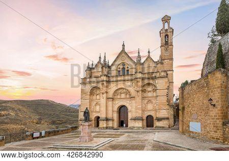 Antequera, Spain. View Of Royal Collegiate Church Of Santa Maria La Mayor