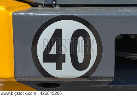 Forty Speed Limit At Construction Machine Vehicle