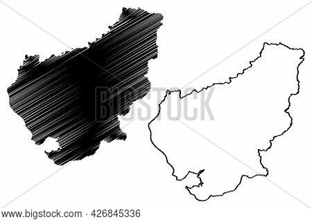 Lorrach District (federal Republic Of Germany, Rural District, Baden-wurttemberg State) Map Vector I