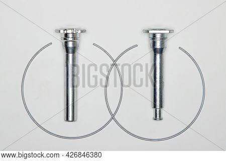 Caliper Repair Kit, Metal Pins And Retaining Rings. Set Of Spare Parts For Car Brake Repair. Details