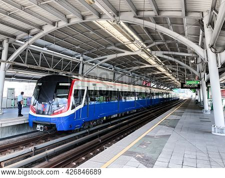 Bangkok, Thailand - 2 Dec 2020, The Environment All Around Of Bangkok Mass Transit System Platform W