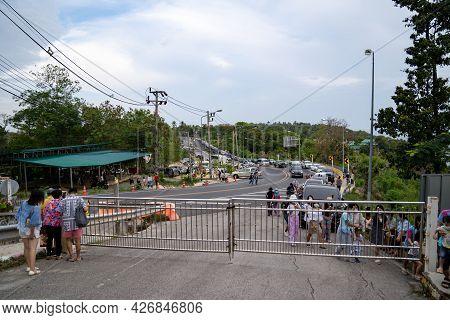 Phuket, Thailand - 12 Apr 2021, The Environment Of The People Around Laem Phrom Thep Or Phrom Thep C