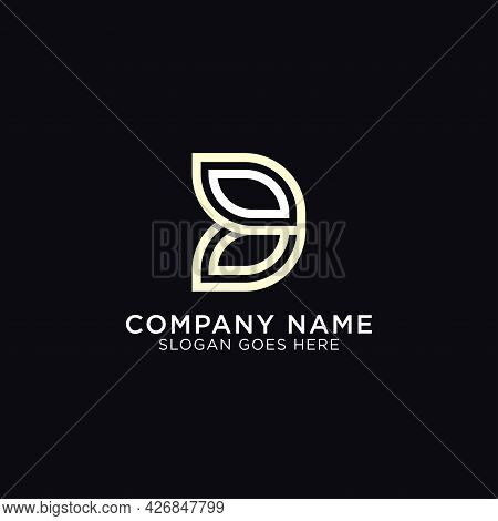Simple Monogram Of Letter D With Outline Style, Initial Name D Logo Design Design Vector