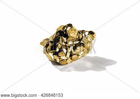 Gold Nugget Isolated On A White Background