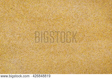 Golden Mesh Gauze Fabric With Small Glitter
