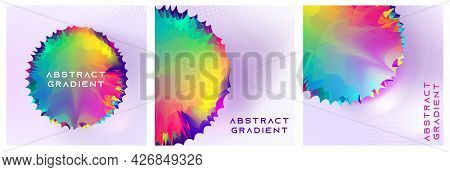 Glowing Bright Neon Abstract Background For Fashion Trend Poster