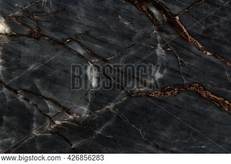 Gray Light Marble Stone Texture For Background.