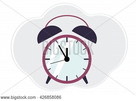 Illustration Of Color Alarm Clock With Arrows