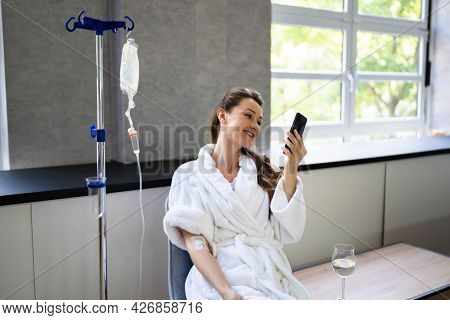 Vitamin Therapy Iv Drip Infusion In Women Blood