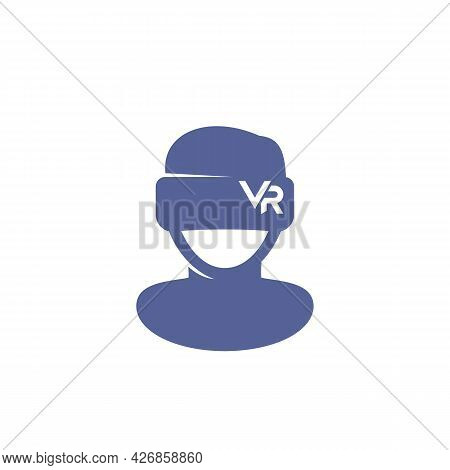 Vr Headset Icon, Man In Virtual Reality Glasses