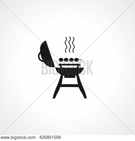 Barbecue Icon. Barbecue Isolated Simple Vector Icon
