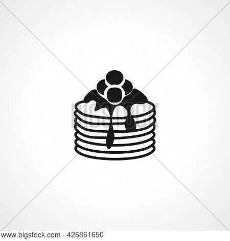 Pancake Icon. Pancake Isolated Simple Vector Icon