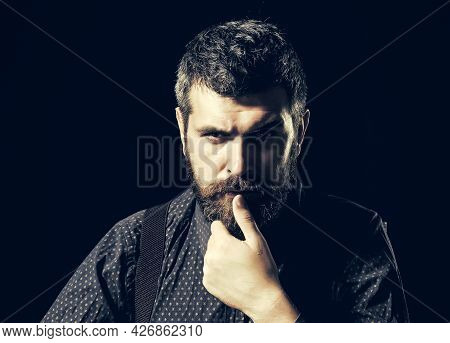 Businessman Or Ceo. Manager With Beard On Serious Face. Business And Success. Man In Formal Outfit I