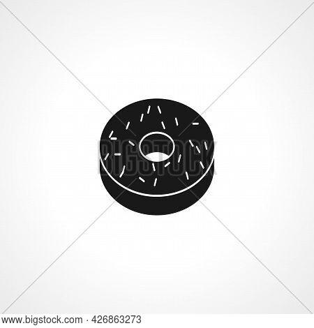 Doughnut Icon. Doughnut Isolated Simple Vector Icon