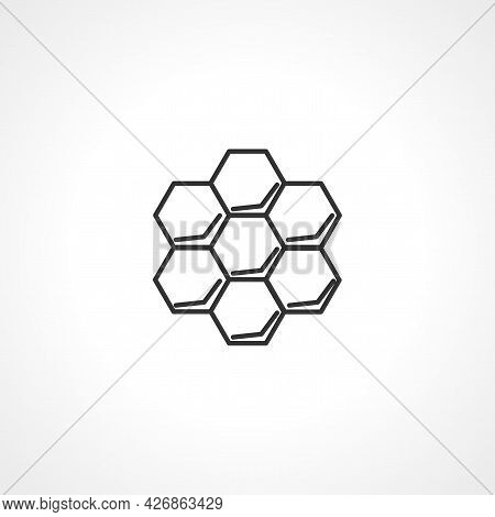 Honeycomb Icon. Honeycomb Isolated Simple Vector Icon