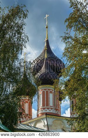 Domes Of Church Of The Presentation Of Our Lady Of Vladimir In Nerekhta, Russia