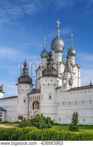 Gate Church Of The Resurrection Of Christ In Rostov Kremlin, Russia