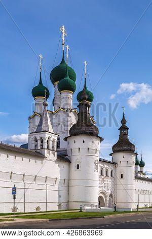 Gate Church Of St. John The Evangelist In Rostov Kremlin, Russia