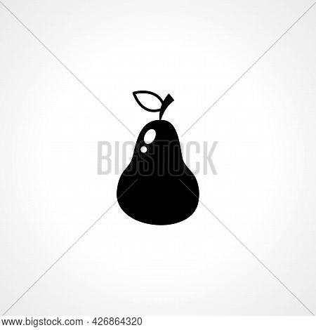 Pear Icon. Pear Isolated Simple Vector Icon