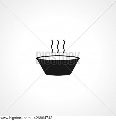 Soup Bowl Icon. Soup Bowl Isolated Simple Vector Icon
