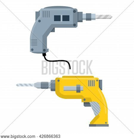 Drill. Appliance Of Builder And Worker. Repair And Installation Tools. Maintenance And Editing. Cart