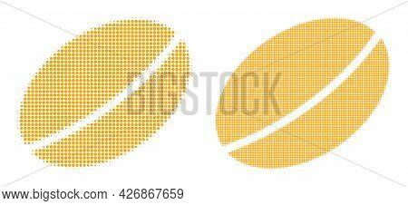Pixelated Halftone Wheet Seed Icon. Vector Halftone Composition Of Wheet Seed Icon Created Of Spheri