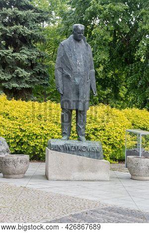 Lubin, Poland - June 1, 2021: Sculpture Of Jan Wyzykowski.