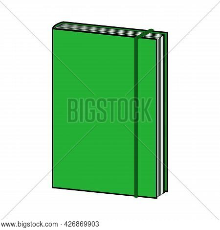 Green Notepad. Doodle Style Icon. Vector Illustration For Poster, Banner, Background, Card, Invitati