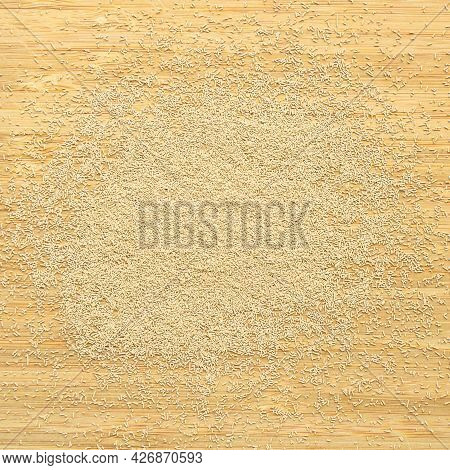 Active Granulated Yeast, Instant Dry Sourdough, On A Bamboo Cutting Board