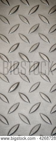 Metal Texture Of Stainless Steel Floor Plate With Bumped Diamond Pattern, Metal Texture Surface