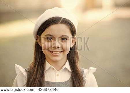 Elegant Girl French Style Outfit Beret Hat, Little Parisian Concept