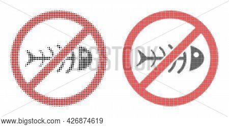 Dot Halftone Stop Toxic Waste Icon. Vector Halftone Composition Of Stop Toxic Waste Icon Composed Of