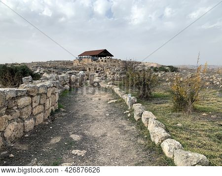 Ruins Of The Ancient Jewish Settlement Of Susiya In The Hebron Highlands In Israel