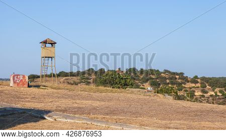 Soviet Military Watchtower Of The Armored Battery 30, It Was Important In The Defense Of Sevastopol