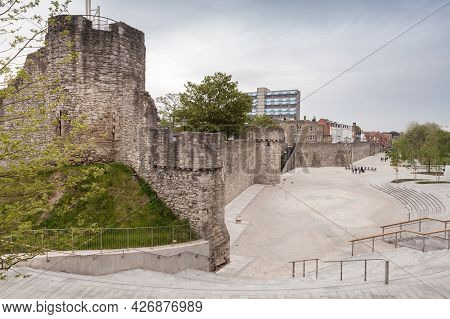 Southampton, Old Town Walls. A Sequence Of Defensive Structures Built Around The Town In Southern En