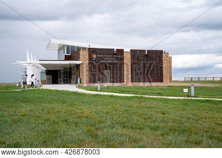 South Dakota, Usa - June 25, 2021: Visitors Center At The Minuteman Missile National Historic Site H