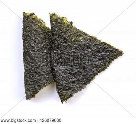 Top View Of Seaweed Isolated On White Background