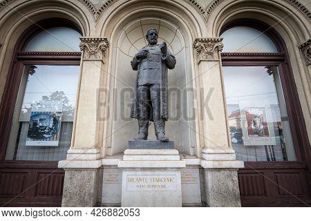 Zagreb, Croatia - June 19, 2021: Ante Starcevic Statue, Also Called Spomenik Anti Starcevicu, In Zag