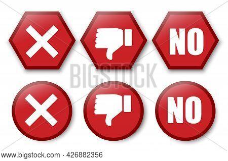 No Cross Dislike For Web Design. Checkmark Icon. Success Symbol. Vector Illustration. Stock Image.