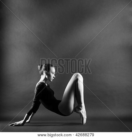 A Portrait Of Young Beautiful Gymnast Woman