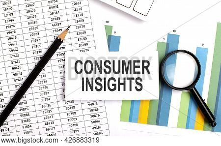 Consumer Insights Text On White Card On Chart Background