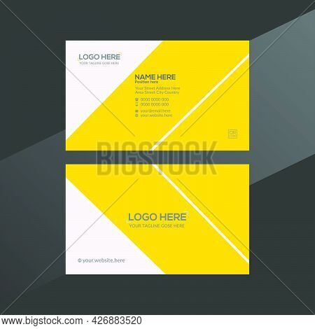 Orange And Gray Colored Vector Business Card Design