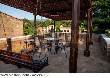Ratchaburi, Thailand - November 14, 2020 : La Toscana Resort The Beautiful Village Resort Tuscan Sty