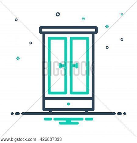 Mix Icon For Wardrobe Furniture Cupboard Hanger Storage Shelf Drawer Interior Accessory Appliance