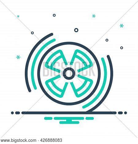 Mix Icon For Radiation Radiation-sign Eradiation Therapy Caution Circle Danger Hazard Radioactivity