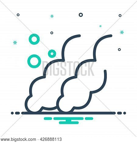 Mix Icon For Co2 Cloud Exhaust Gas Global Warming Chemistry Carbon-dioxide Polluted