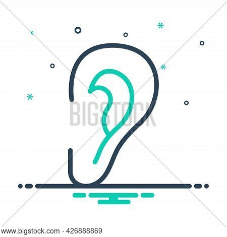 Mix Icon For Ear Listen Hear Hearken Ear Sound Volume Acoustic Hearing Audible Sense