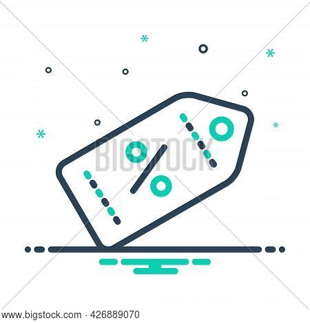 Mix Icon For Promocode Advertising Coupon Tag Label Voucher Code Clearance Discount
